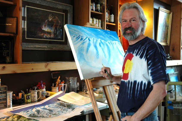 Kevin Mastin Painting in the Studio