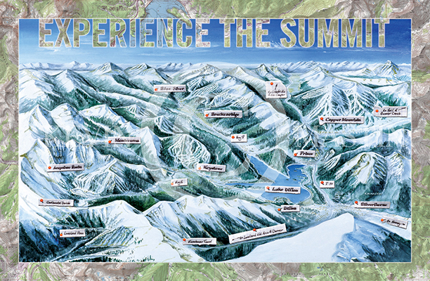 "Experience the Summit Poster 36"" x 24"""