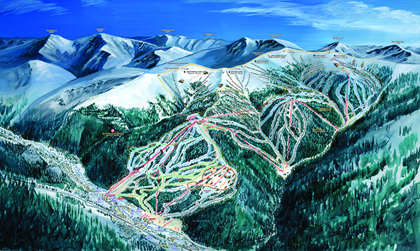 Keystone Ski Trail Map