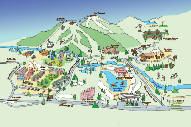 Keystone Kids Cartoon Illustrated Summer Map