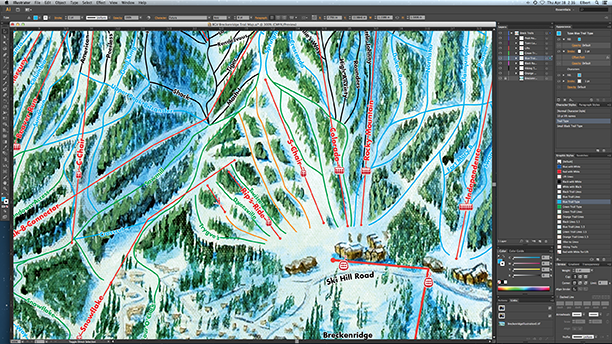 Breckenridge Ski Trail Map Process107