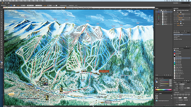 Breckenridge Ski Trail Map Process108
