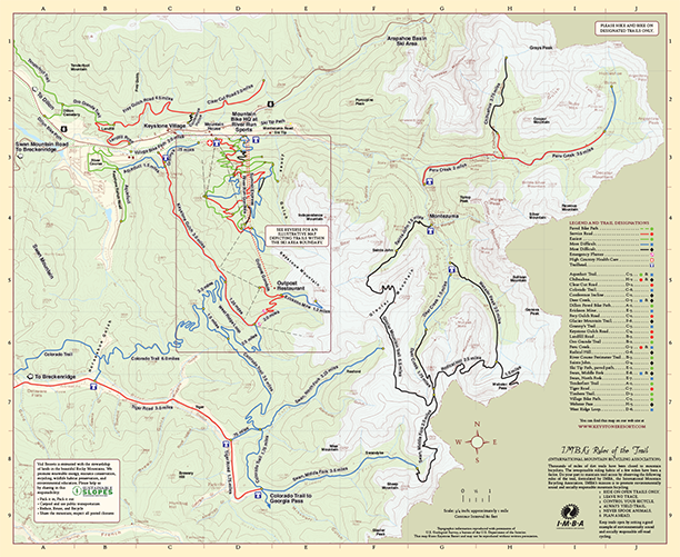 Keystone Bike Trail Map Topo 2001