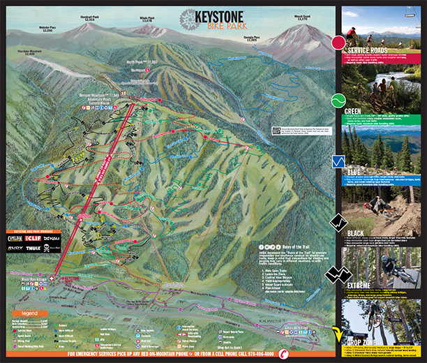 Keystone Mountain Bike Map 2013