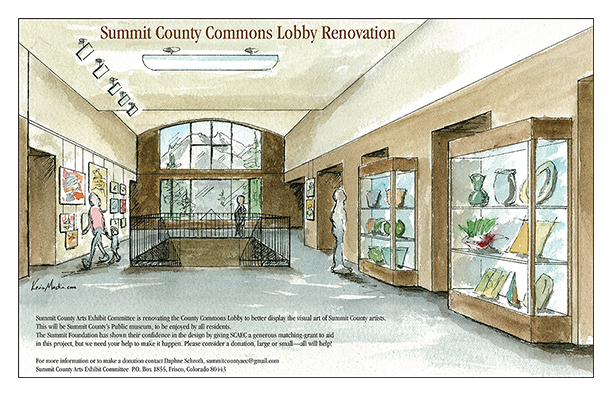 SCAEC Summit County Commons Poster Illustration by Kevin Mastin