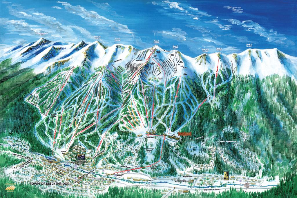 Breckenridge Ski Trail Map Artist Kevin Mastin