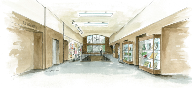 SCAEC Summit County Commons Lobby Full Illustration by Kevin Mastin