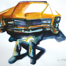 Caddy Girl Watercolor Painting by Kevin Mastin