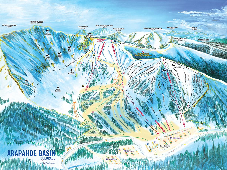 Arapahoe Basin Ski Trail Map