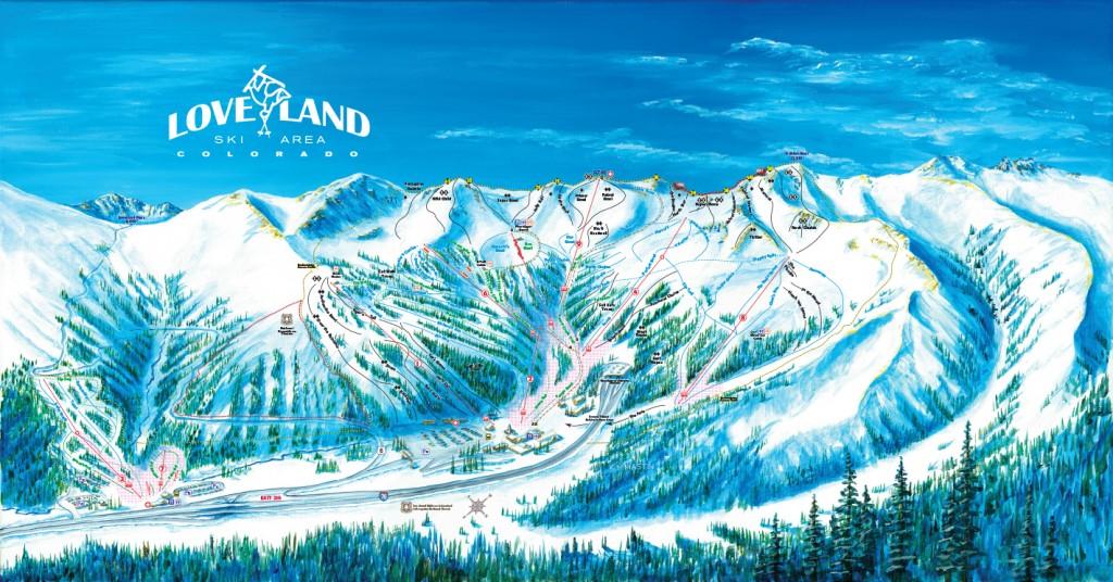 Loveland Ski Area Trail Map