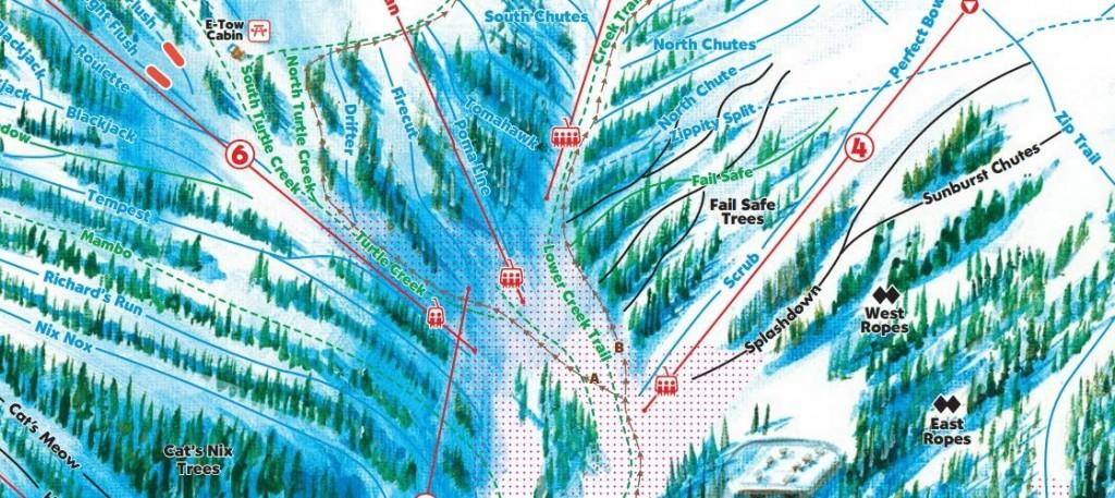 Loveland Ski Trail Map Detail