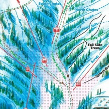 Loveland Ski Trail Map Detail