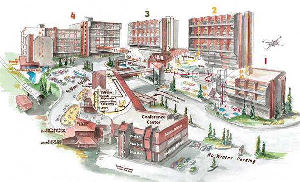 Beaver Run Resort Check-in Map