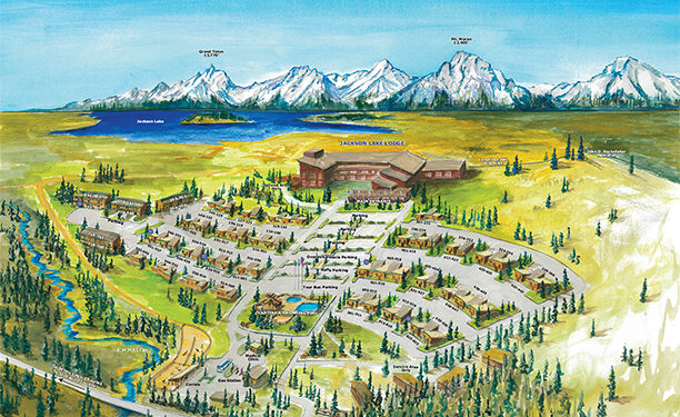 Jackson Lake Lodge Wyoming Resort Map