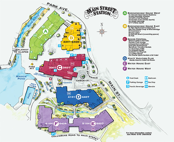 Main Street Station Breckenridge Resort Map