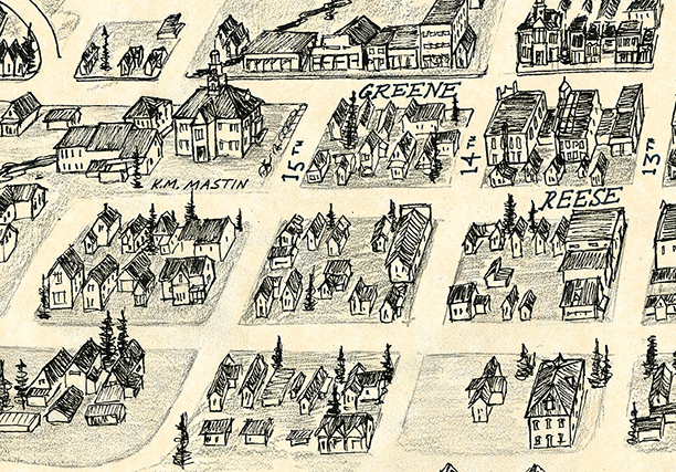 Silverton Town Illustration Detail