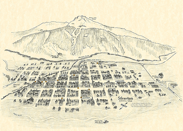 Silverton Town Illustration