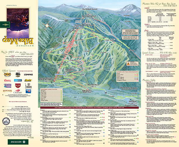 Keystone Bike Trail Map 2001