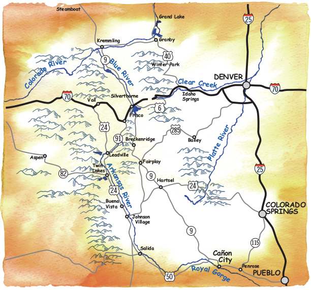 Rafting Maps, Colorado