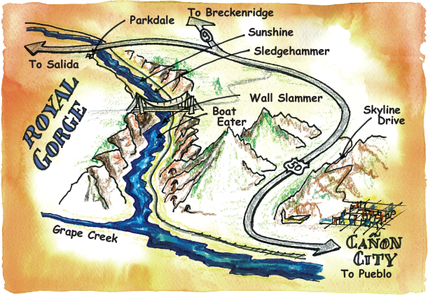 Rafting Maps Royal Gorge, Cañon City, Colorado