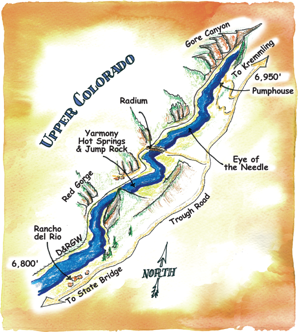 Rafting Maps Upper Colorado River