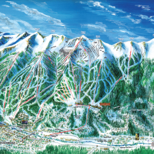Breckenridge Ski Trail Map Illustration by Kevin Mastin