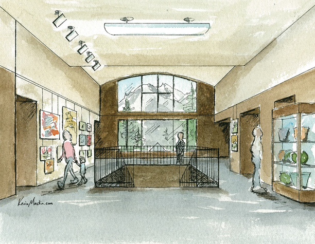 SCAEC Summit County Commons Lobby Tight Illustration by Kevin Mastin