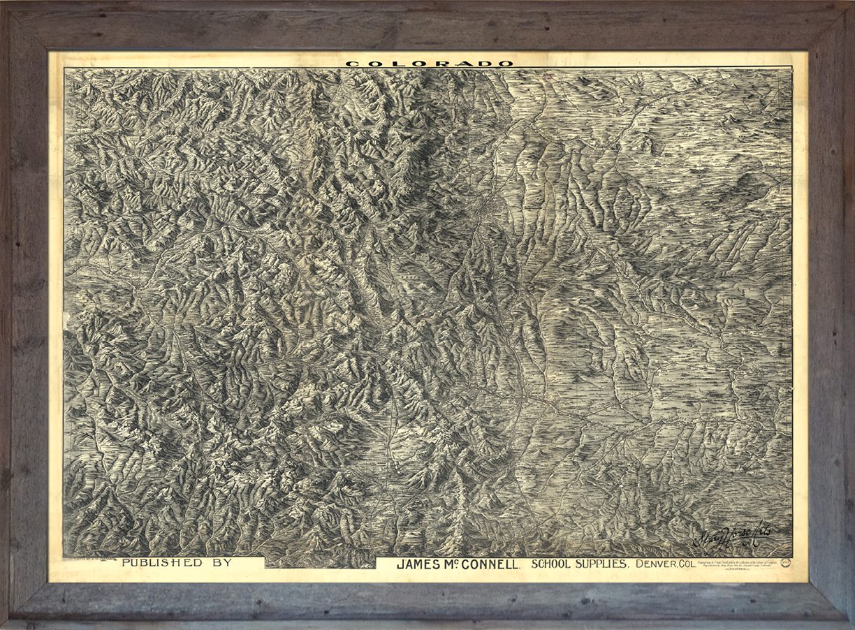 Colorado 1884 in Barnwood Frame