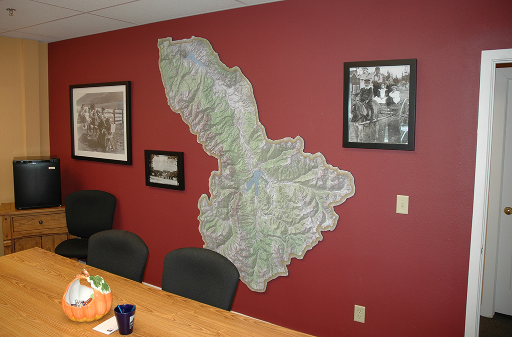Wall size Summit County Topographic Map