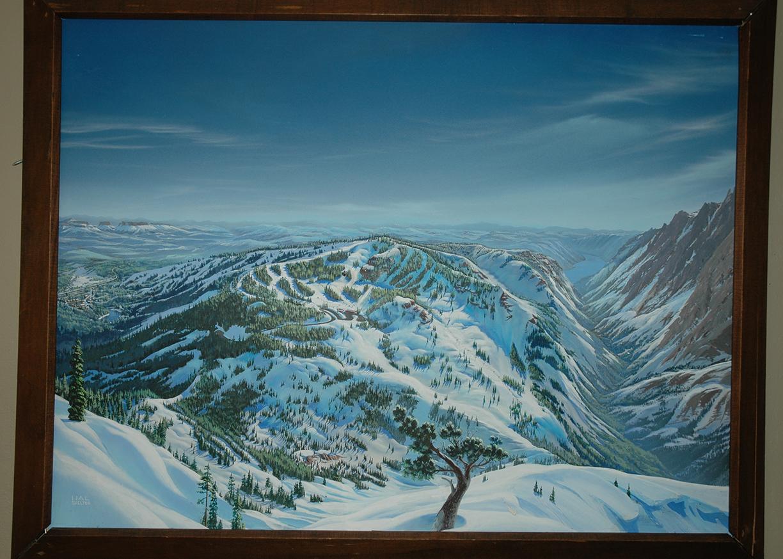 Bear Valley Ski Trail Map by Hal Shelton