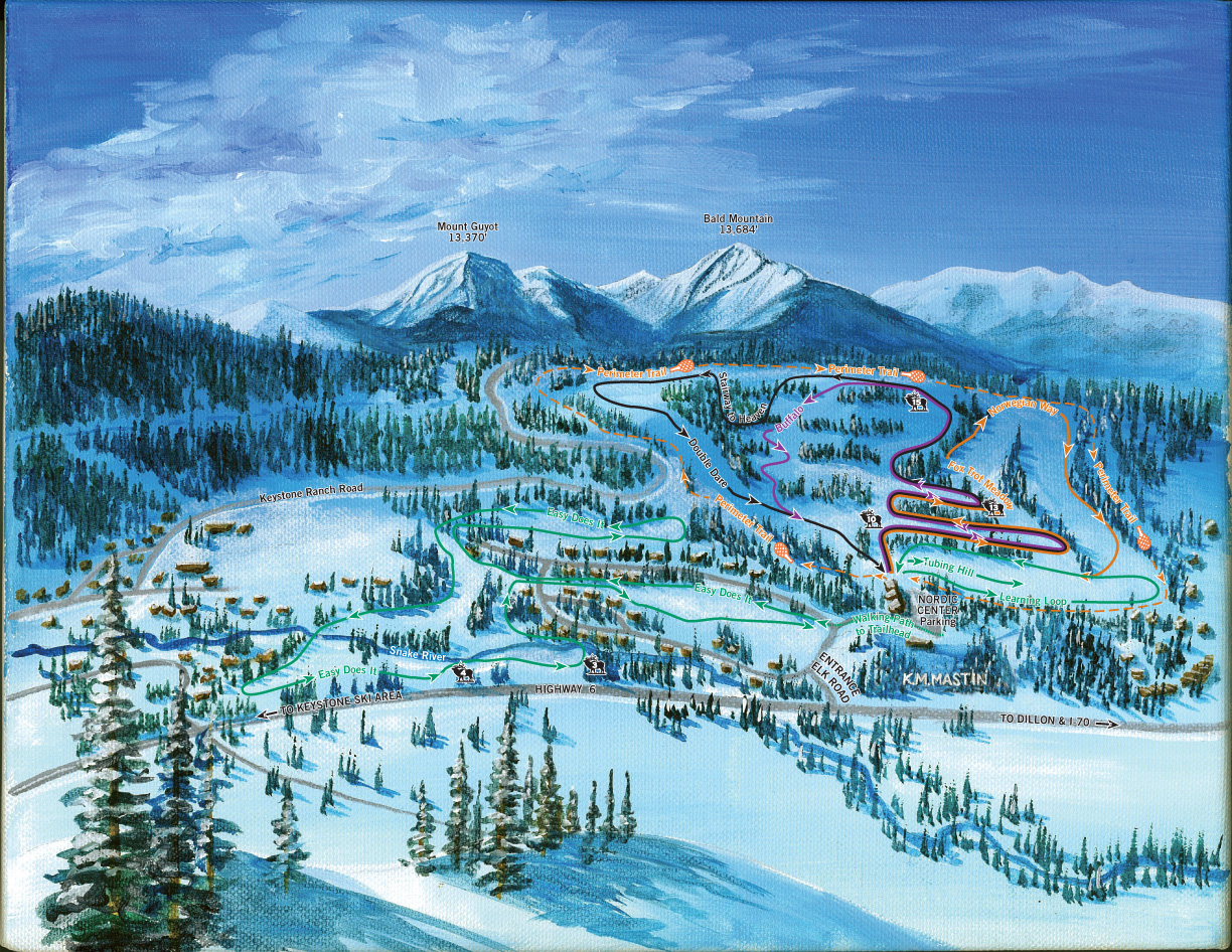 Keystone Nordic Ski Trail Map