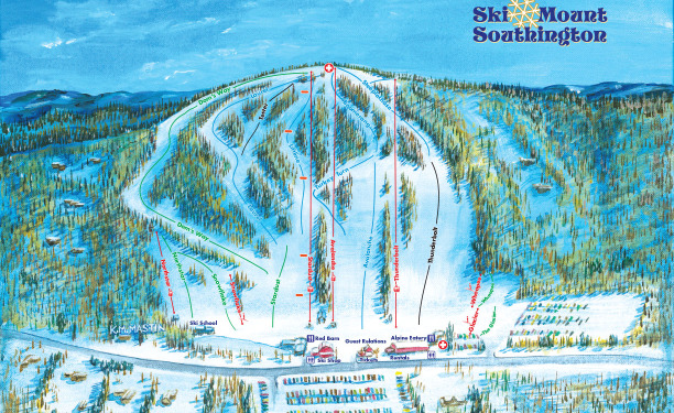 Mount Southington Connecticut Ski Trail Map