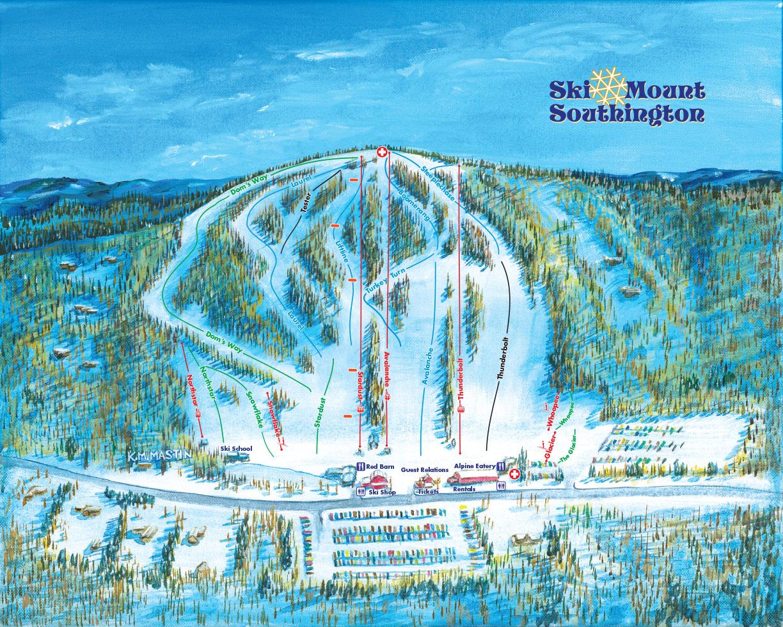 Mount Southington Connecticut Ski Trail Map
