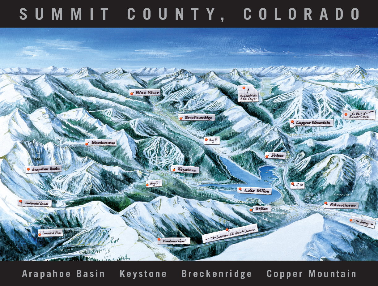 Ski Trail Map Artist Kevin Mastin