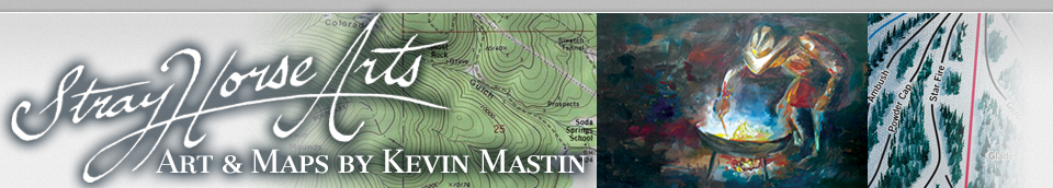 Ski Trail Map Art by Kevin Mastin Leadville Colorado