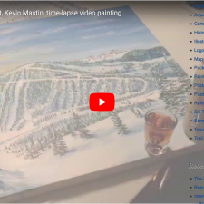 Ski Trail Map Painting