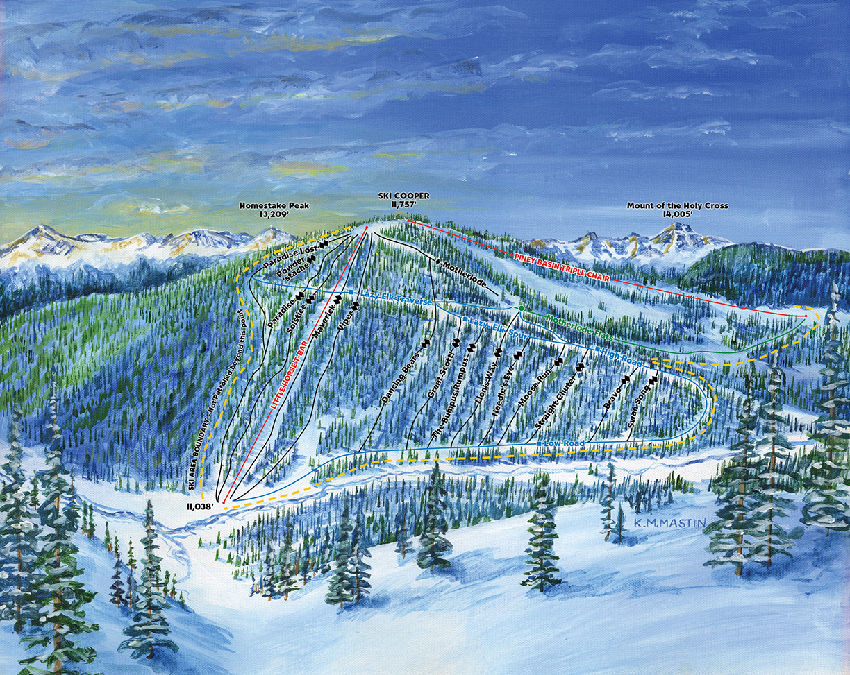Tennessee Creek Basin Ski Trail Map